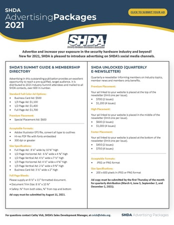 Shda Advertising Packages Page 1
